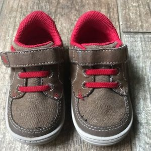 Stride Rite brown and red shoes